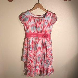 Jona Michelle Zig Zag Ruffle Girl Dress